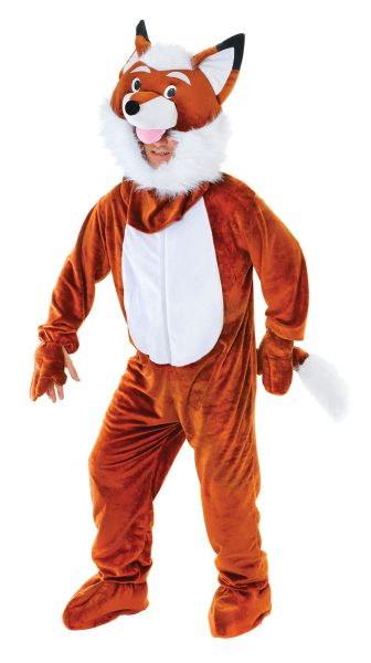 Adults MR Fox Big Head Costume
