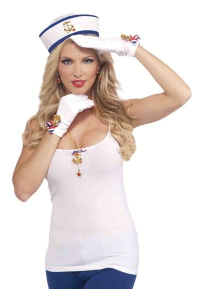Lady In Navy Gloves