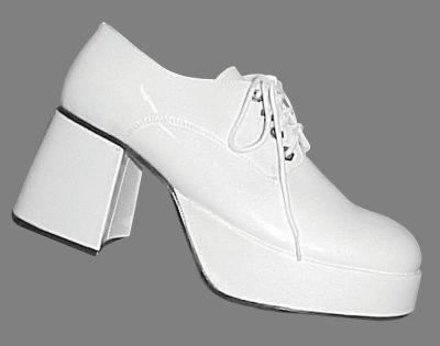 mens platform shoes white small