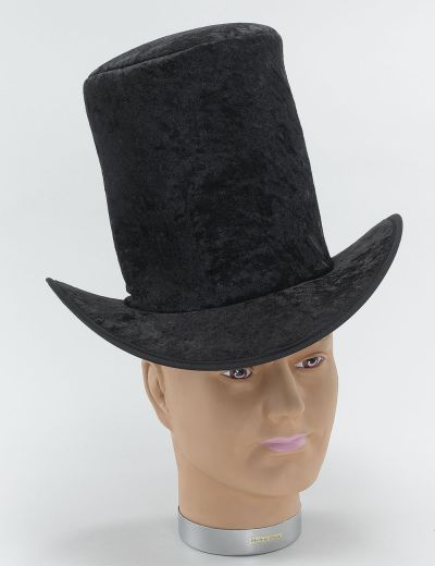 Top Hat Velvet Black