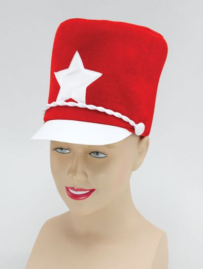 Majorette Hat. Red Soft Felt
