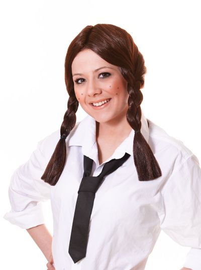 Schoolgirl Wig.  Brown