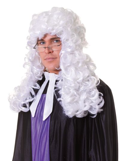 Judge Wig.  Budget. White