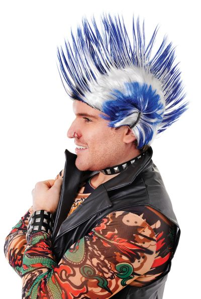 Mohican. Blue/White