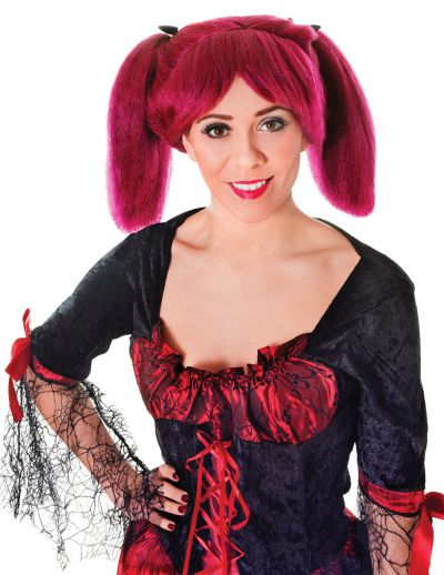 Steampunk Wig Burgundy