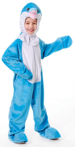 SALE! Kids Funny Blue Moon Dolphin Girls / Boys Fancy Dress Costume Party Outfit