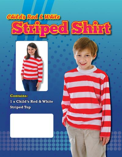 Childs Red and White Striped Top