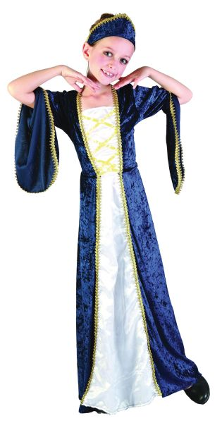 Childs Regal Princess Blue Costume