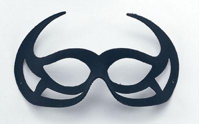 Black Demon Domino Eye Mask