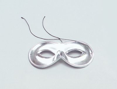 Domino Mask. Silver
