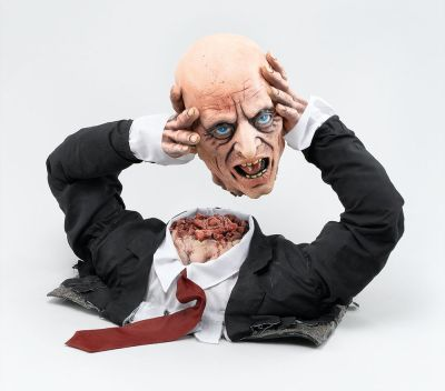 Cut Off Corpse Head Display