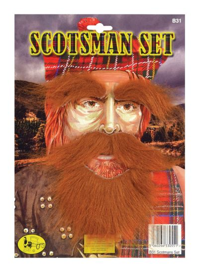 Scotsman Set (Beard, Tash, Eyebrows)
