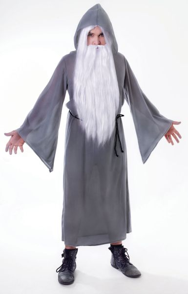 Adult Grey Wizard Cloak Thumbnail 1