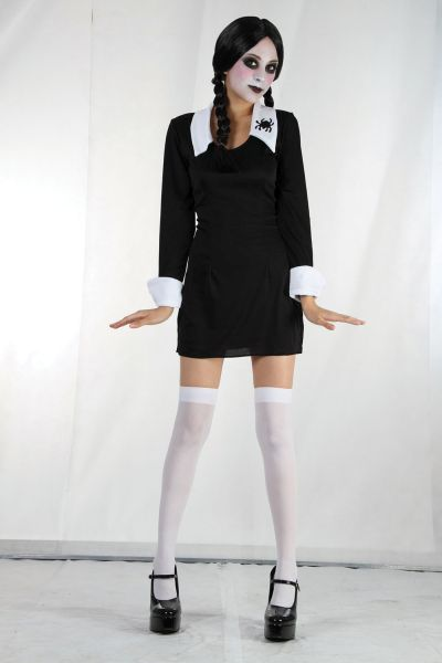 Ladies Creepy School Girl costume Thumbnail 1