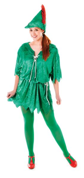 Ladies  Peter Pan Costume Thumbnail 3