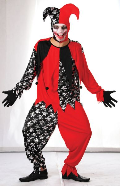 Adults Evil Jester Costume Thumbnail 1