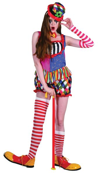 Rainbow Clown Female Costume Thumbnail 1