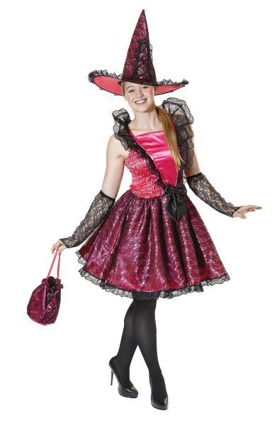 Adult Witch Dress Pink Costume Thumbnail 1