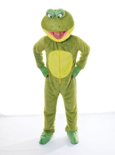 Adult Frog Big Head Costume Thumbnail 1