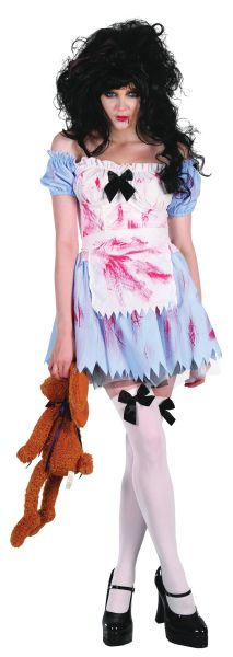 Ladies Zombie Girl Costume Thumbnail 1