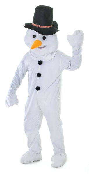 Adults Snowman Big head Costume Thumbnail 1