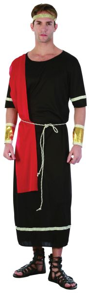 Adult Black Caesar Toga Costume Thumbnail 1