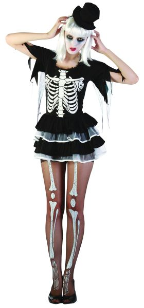 Adult Skeleton Lady Costume Thumbnail 1