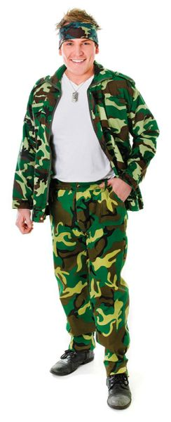 Adult Camouflage Trousers Thumbnail 1