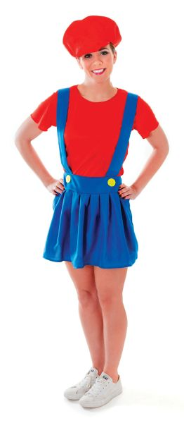 Adult Plumber Lady Costume Thumbnail 1