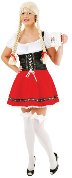 Red Sexy Dirndl (German Dress) Thumbnail 1