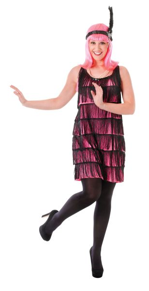 Jazzy Pink  Flapper Dress Thumbnail 1