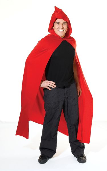 Adult Long Hooded Red Cape Thumbnail 1