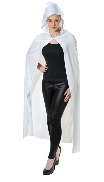 Adult Long White Hooded Cape Thumbnail 2