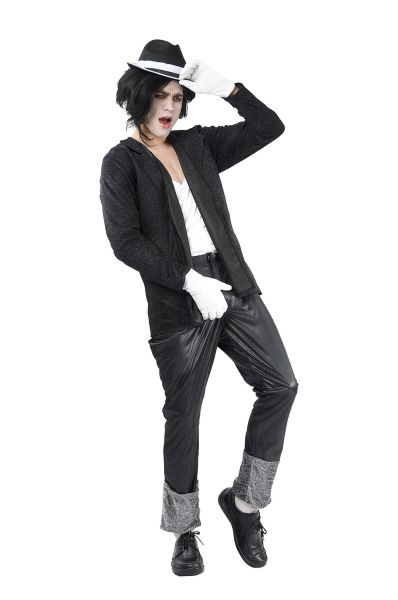 Adult Superstar Black Costume Thumbnail 1