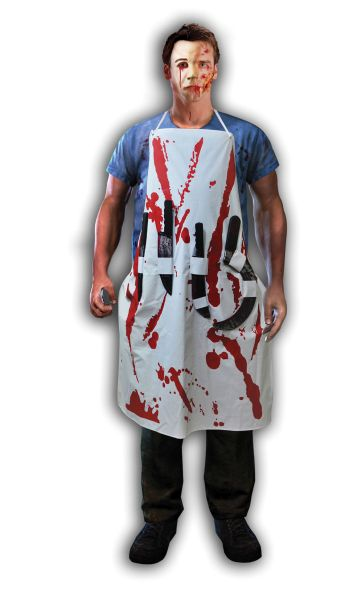 Bloody Apron With 4 Weapons Thumbnail 1