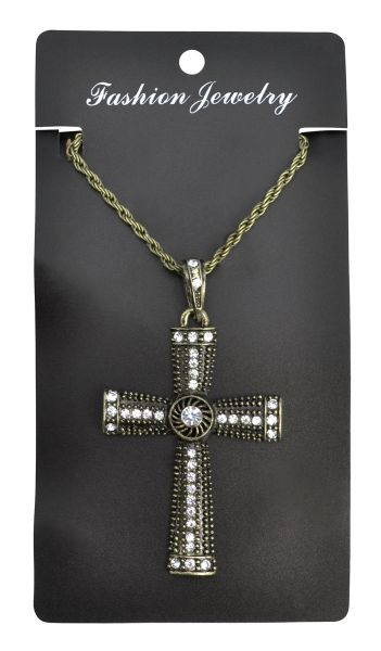 Jewelled Cross Necklace Thumbnail 1