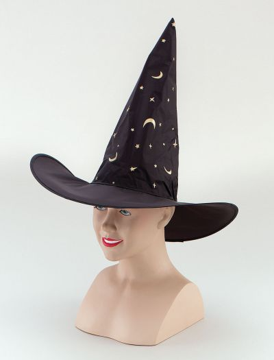 Witch Hat. Nylon/Printed Stars Thumbnail 1