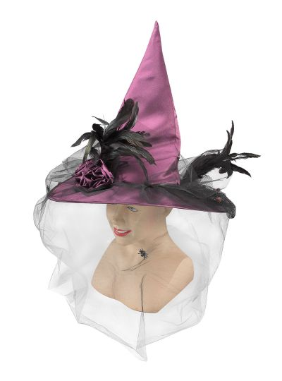 Fancy Purple witch hat Thumbnail 1