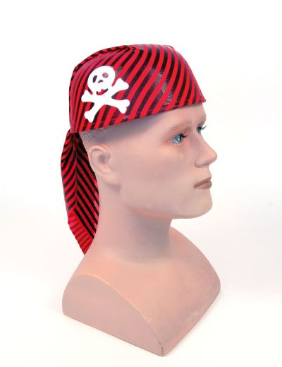 Pirate Skull Hat Red/Black Thumbnail 1