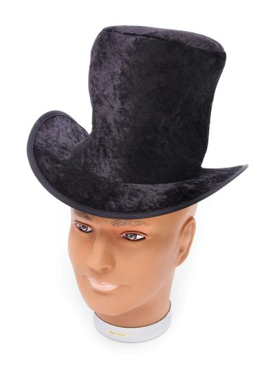 Top Hat. Childs Black Velvet Thumbnail 1