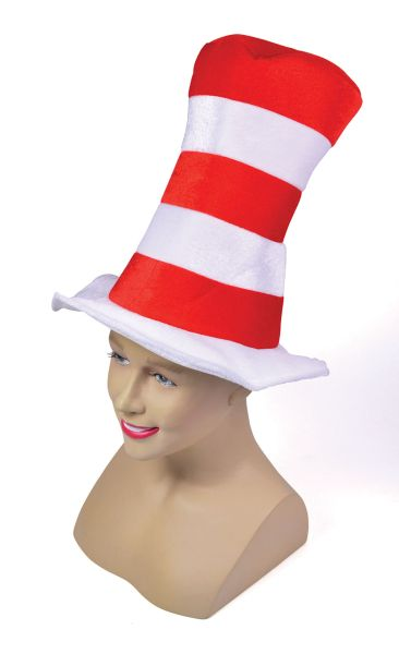 Red/White Striped Top Hat. Childs Thumbnail 1