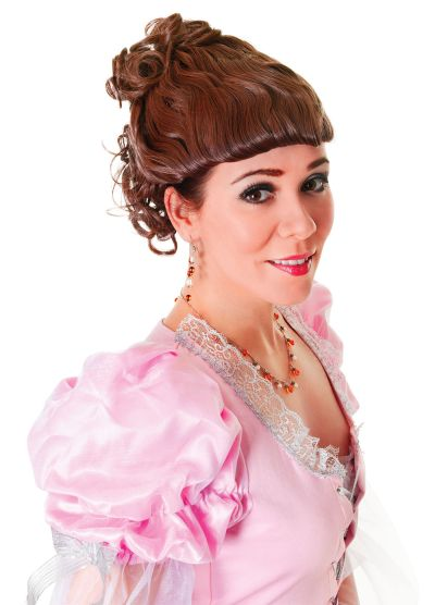 Victorian Lady Wig Brown Thumbnail 1