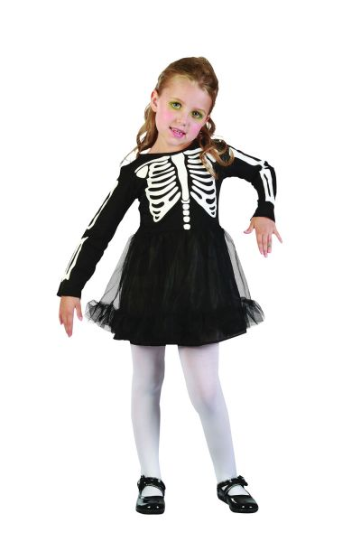 Skeleton Girl Toddler Costume Thumbnail 1