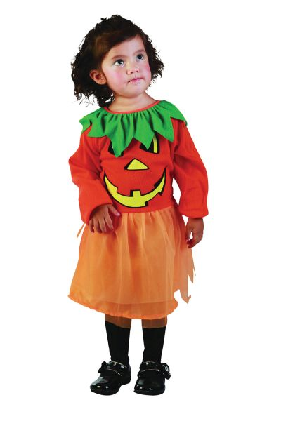 Toddler Pumpkin Girl Costume Thumbnail 1