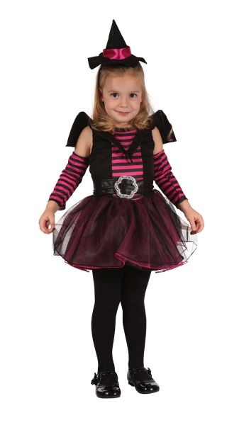 Child Cute Witch Girls Halloween Party Fancy Dress Kids Toddler Costume Outfit  Thumbnail 1
