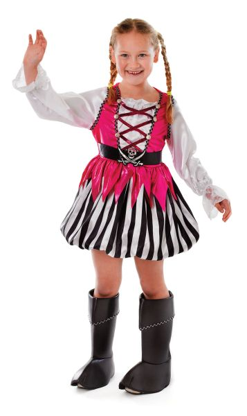 Childs Pink Pirate Girl Costume Thumbnail 1