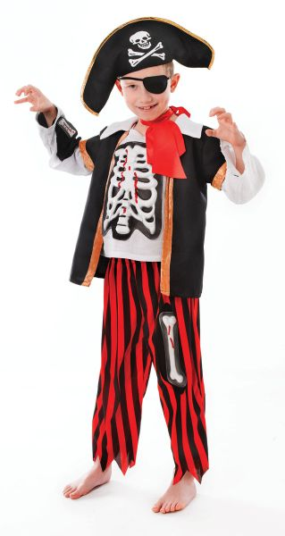Childs Pirate Skeleton Costume Thumbnail 3