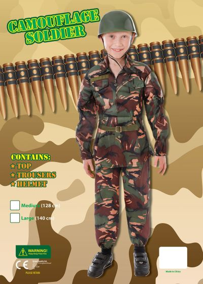 Childs Soldier Camouflage Costume Thumbnail 4