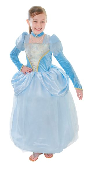 Childs Blue Princess Costume Thumbnail 1