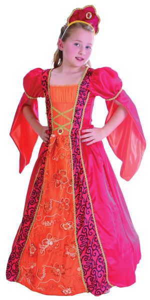 Childs Red Princess. Deluxe Costume Thumbnail 1